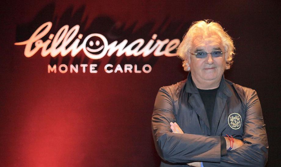 Flavio Briatore, hier après-midi dans son Billionaire Monte Carlo installé jusqu'en mars sur les terrasses au 7e étage du Fairmont Monte-Carlo.