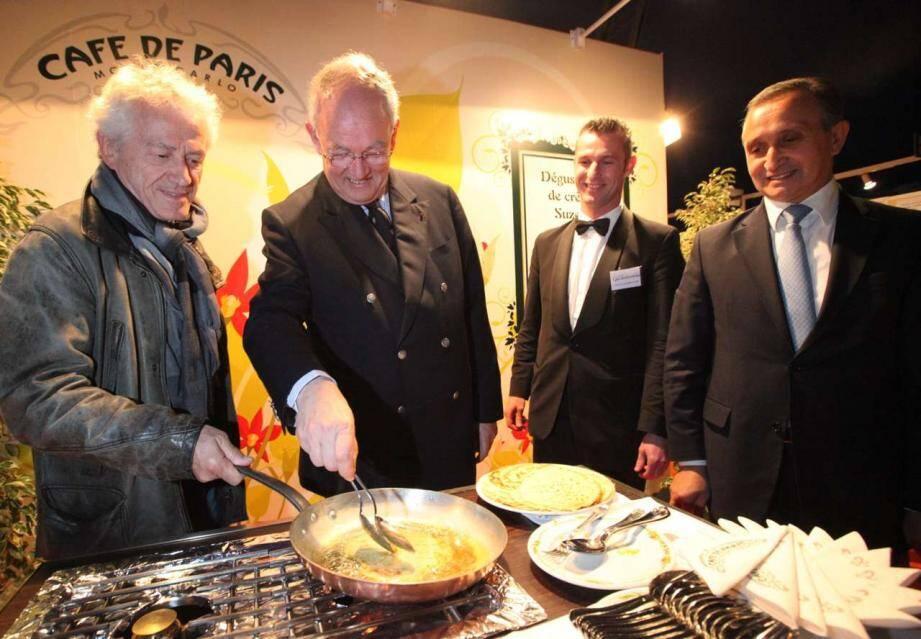 Lors du Salon de la gastronomie de Monte-Carlo 2012.