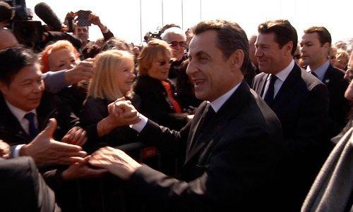 Nicolas Sarkozy en meeting à Nice le 9 mars 2012