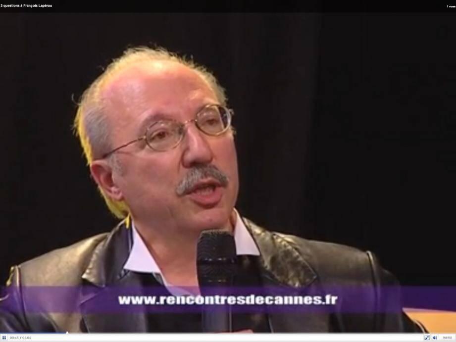Interview de François Laperou aux Rencontres de Cannes 2010 (capture vidéo)