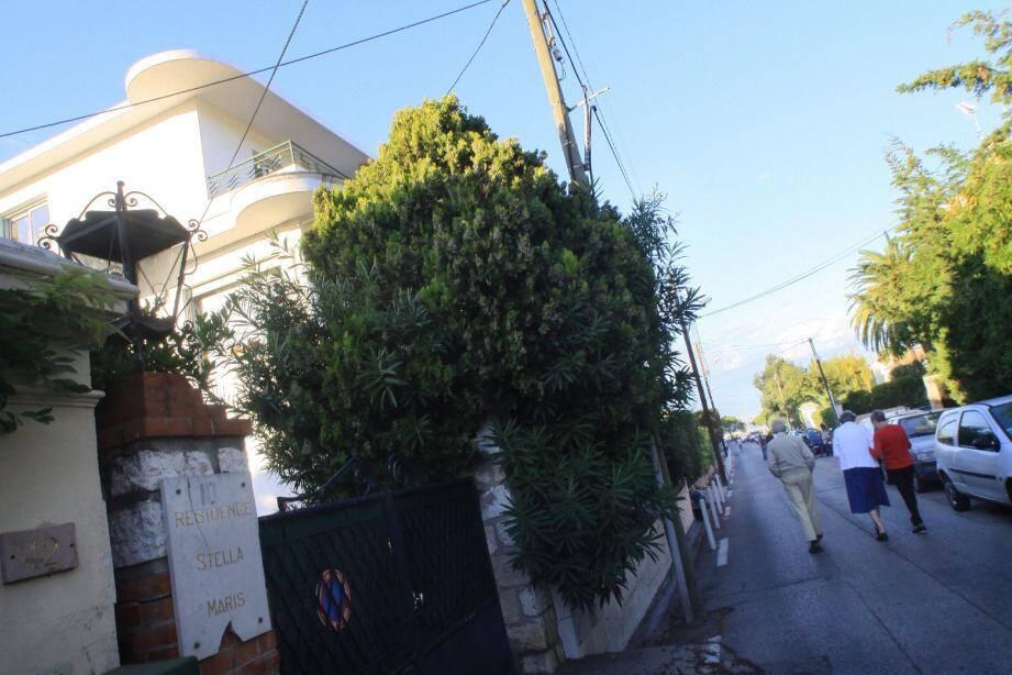 Le drame s'est produit dans cette petite résidence de la Salis.