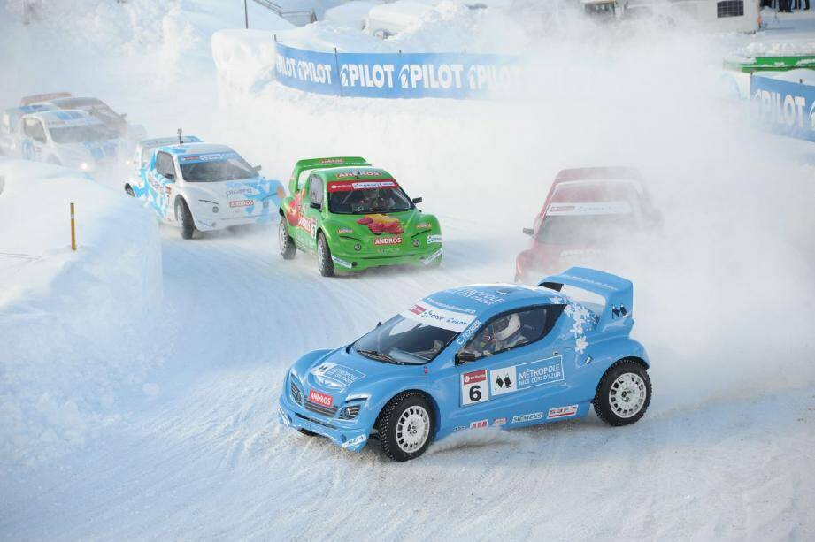 Christophe Ferrier, toujours aussi survolté sur les pistes du Trophée Andros électrique...