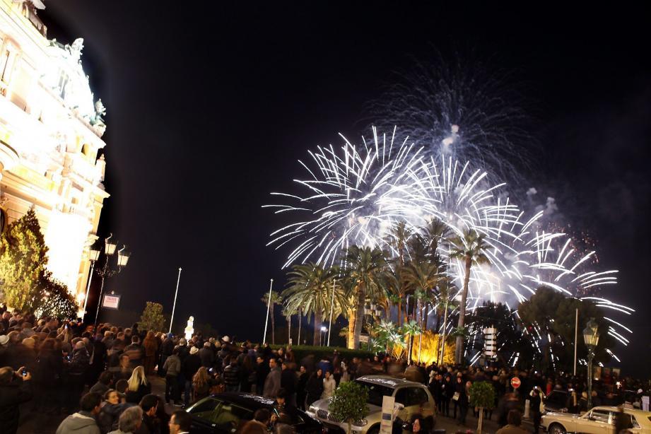 La place du Casino embrasée l'an dernier pour le 31 décembre.