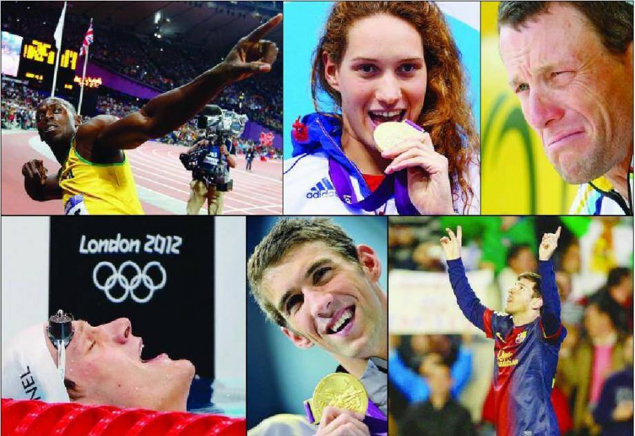 La foudre de Bolt, l'appétit de Muffat, la grimace d'Armstrong, l'état de grâce d'Agnel, le sourire de Phelps et la grâce de Messi : tous ont marqué,  à leur manière, cette année 2012.