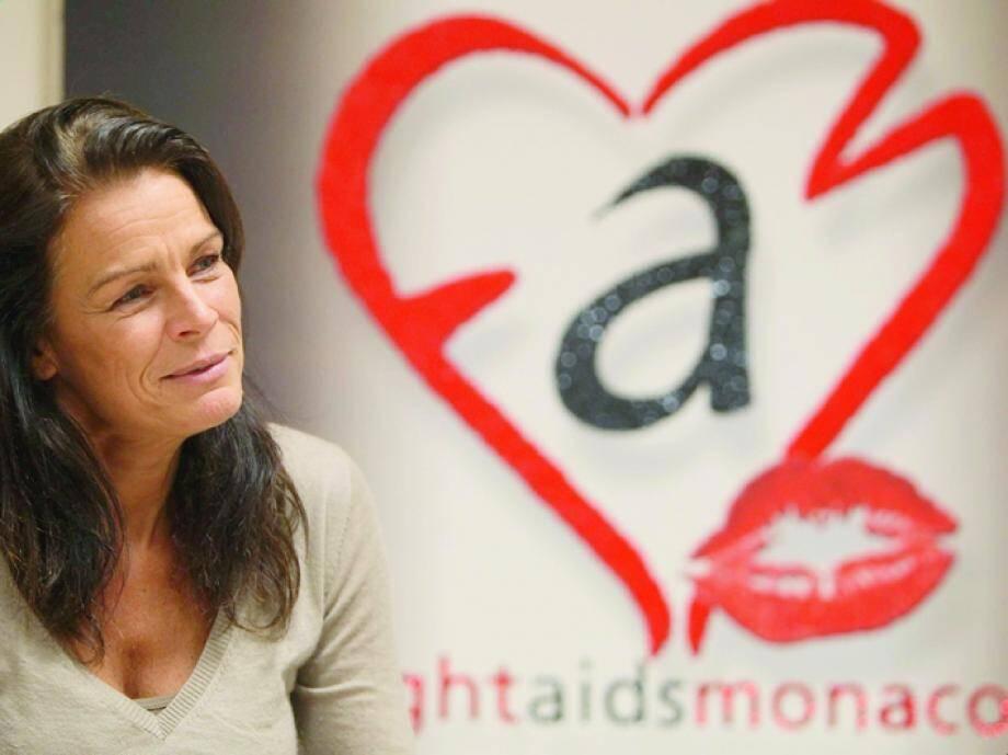 La princesse Stéphanie préside «Fight Aids Monaco », association qui soutient 150 malades du sida de la région.(Photo Franz Chavaroche)