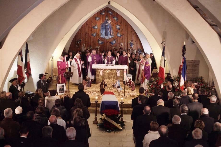 C'est dans l'église Notre-Dame des Neiges de Valberg qu'ont été célébrées les obsèques.