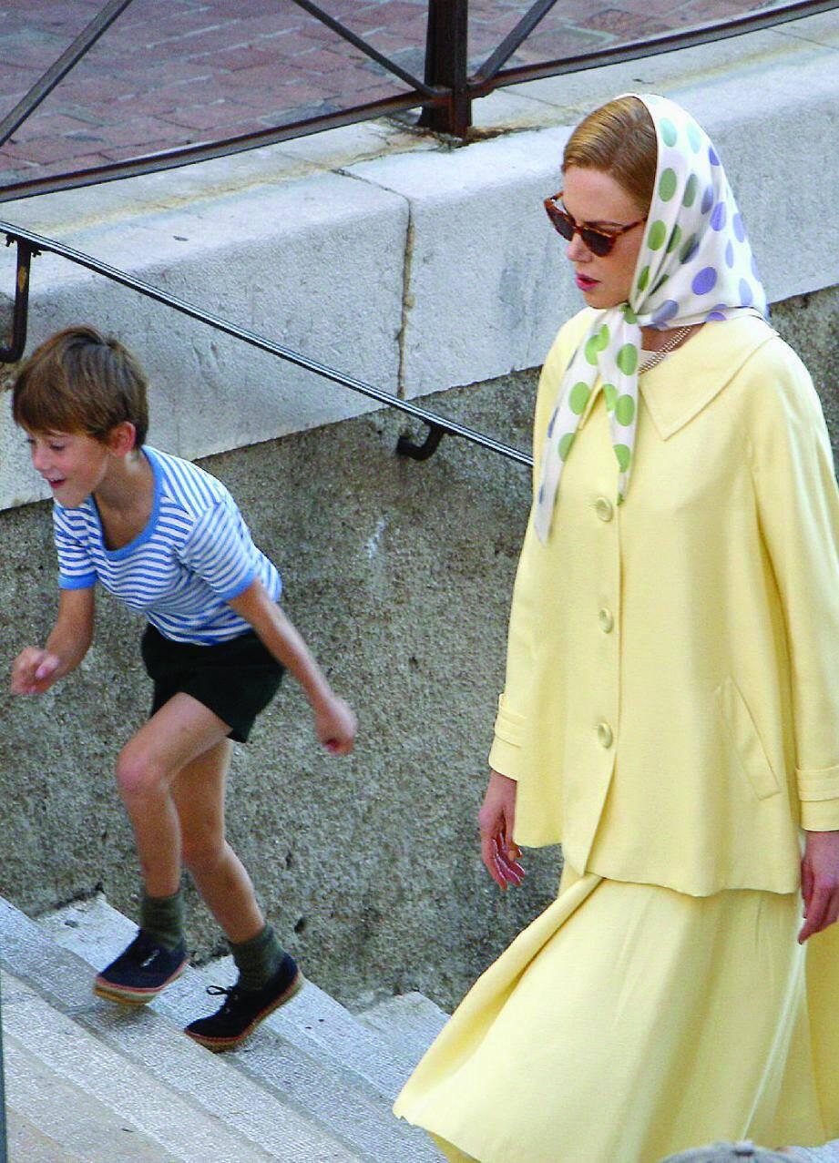 Nicole Kidman, transformée en princesse Grace pour une scène de tournage à Menton en octobre dernier.
