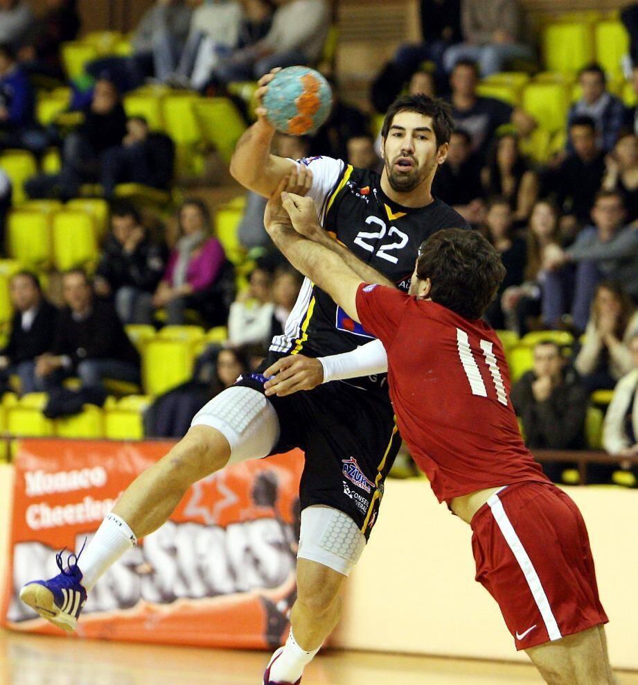 Cikanauskas et les Monégasques se souviendront longtemps de ce match de gala perdu contre Aix et Nikola Karabatic.