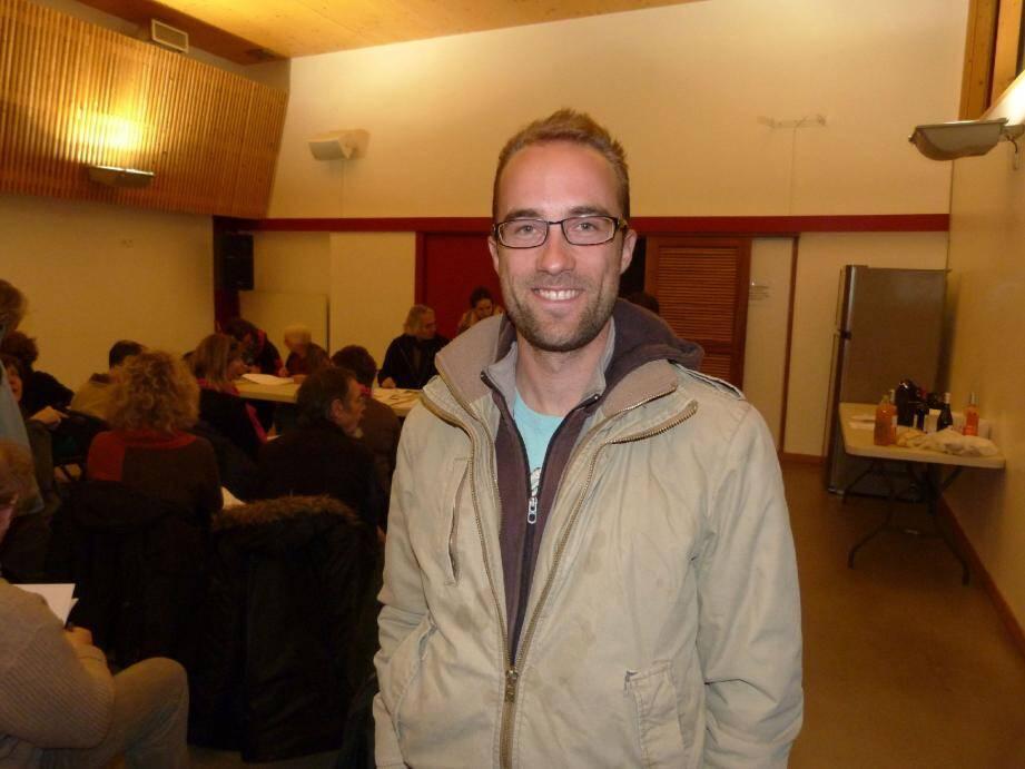 Fabrice Leroy, agriculteur suite à une reconversion professionnelle, est le nouveau maraîcher de l'Amap.