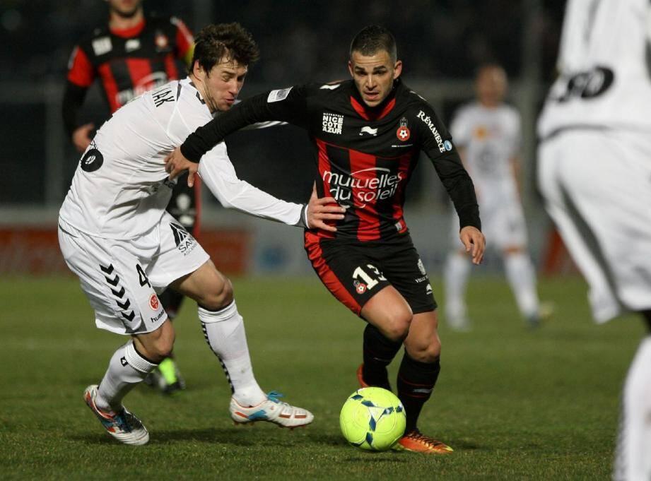 Face à Reims vendredi soir, Valentin Eysseric, auteur de son cinquième but en L1 sur penalty, a porté le Gym vers un deuxième succès d'affilée en L1.