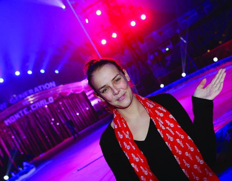 Pauline Ducruet, hier après-midi sous le chapiteau de Fontvieille, entre deux répétitions du festival New Generation, qui démarre samedi après-midi.
