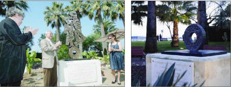 Commandée par la Ville, l'œuvre de Robert Combas avait été inaugurée officiellement le 1er juillet 2007, en présence d'Anne Goscinny, fille de René. Sur la Croisette, il n'en reste plus qu'un socle escamoté.(Photos
