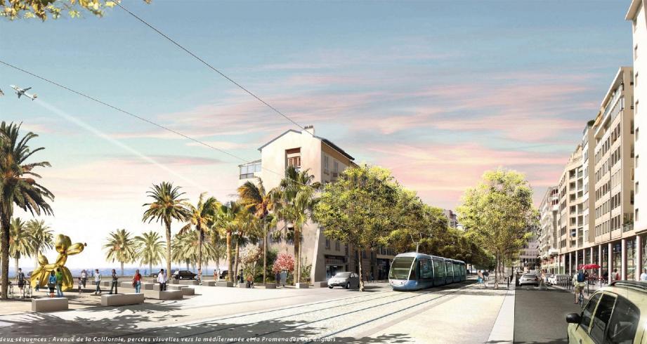 Les Niçois pourront s'exprimer sur le projet de ligne 2 du tramway à partir du 12 décembre.(Illustration Nice Côte d'Azur)