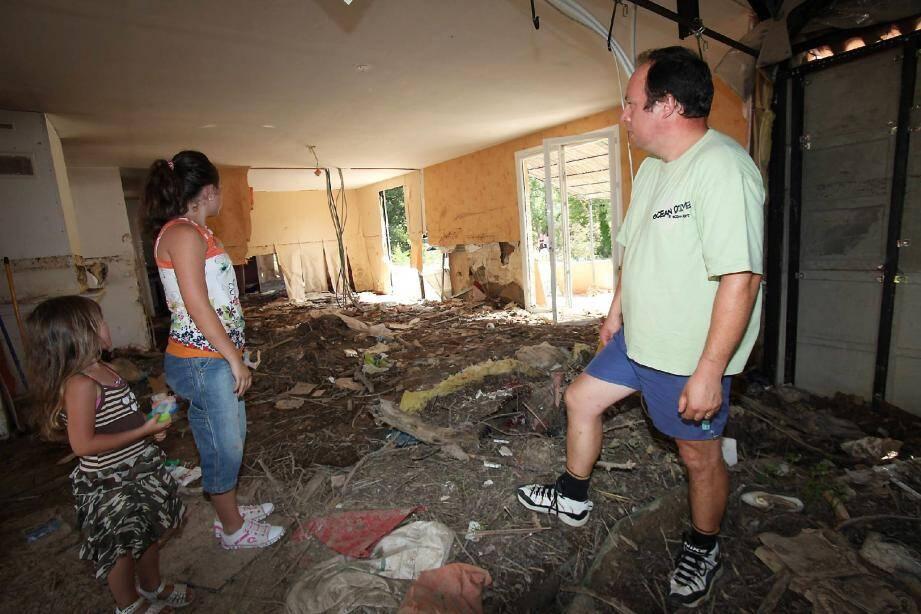 Lors des intempéries des 15 et 16 juin 2010, la famille Sallin avaient subi de lourds dégâts à son domicile dracénois.