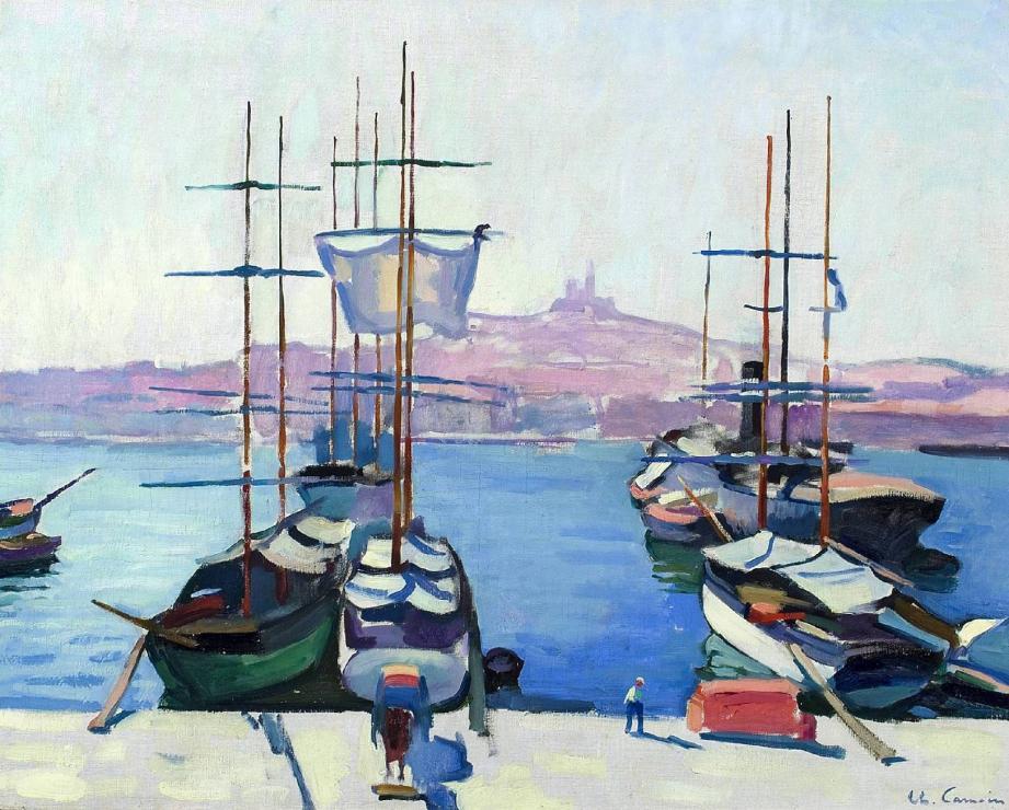 Les peintres de l'école de Marseille seront exposés à l'Annonciade du 16 mars au 17 juin. Parmi eux, on retrouve Charles Camoin. Ici, une toile de 1904, « Le port de Marseille ».(Repro DR)