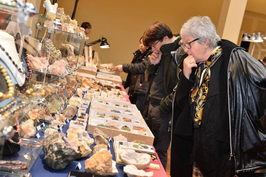 Grand public et collectionneurs se pressent pour découvrir de superbes et rares pierres précieuses.