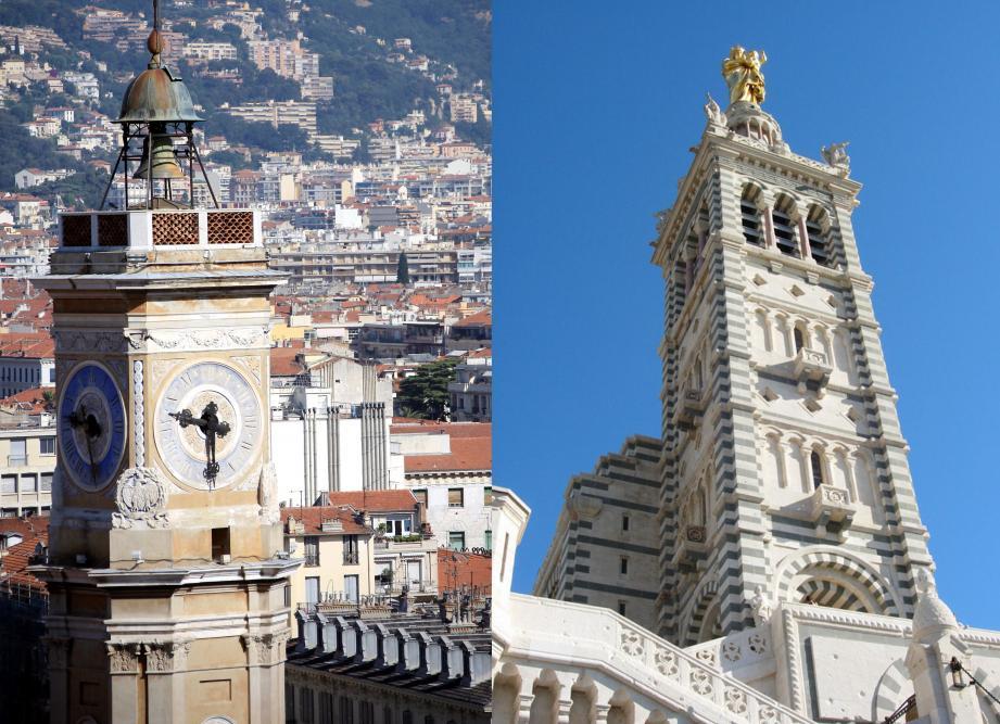 La tour Saint-François face à la Bonne Mère.