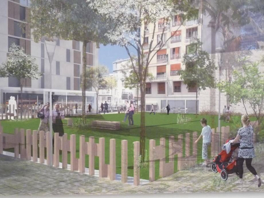 Le projet de square rue Trachel.