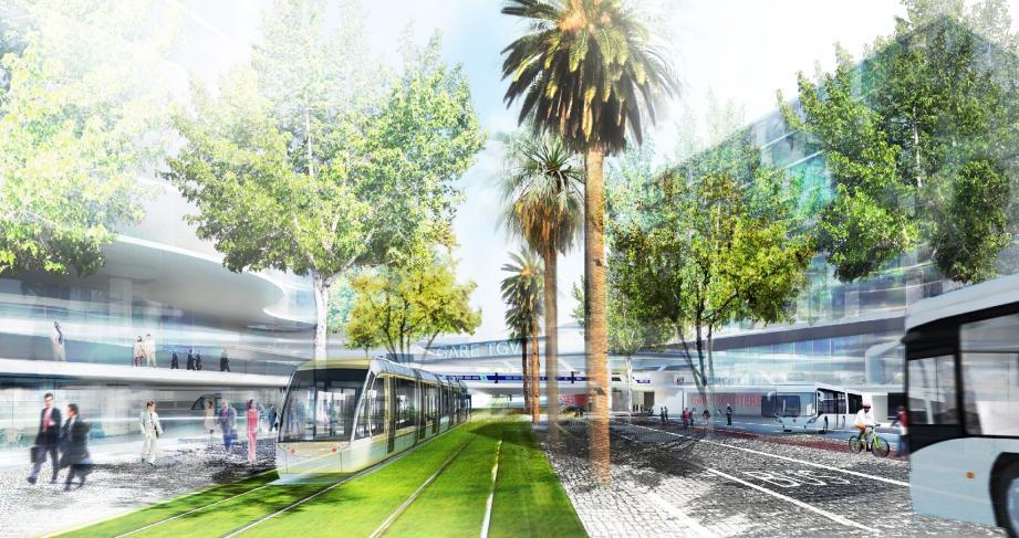 « La ligne 2 sera livrée en 2017. Seules trois stations seront différées à 2019 », a réaffirmé Christian Estrosi. (DR)