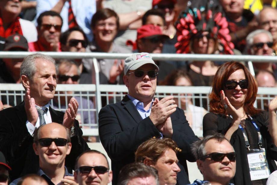 Le prince Albert de Monaco supporte le RCT