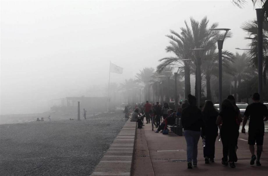 Cagnes : la brume des jours...