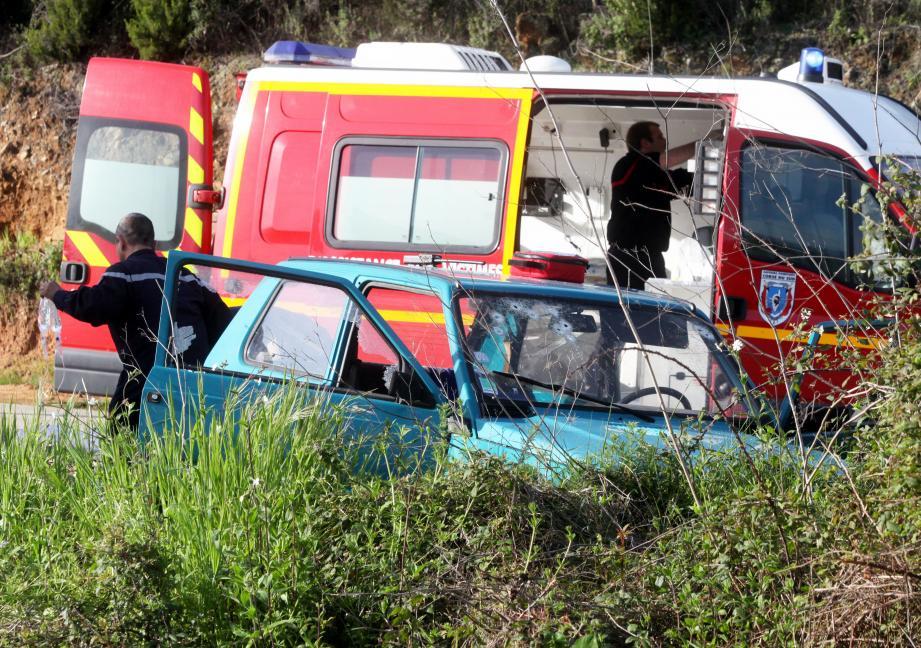 Didier Raffini se trouvait au volant de son véhicule quand il a été pris pour cible par des tirs