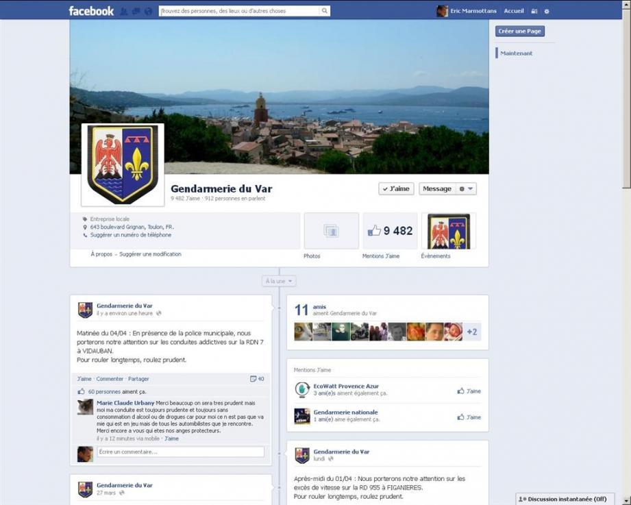 La barre des 10.000 abonnés à la page Facebook des gendarmes varois devrait être prochainement franchie.