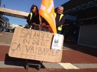 Certains salariés du Géant Casino de Fréjus sont en grève ce vendredi.