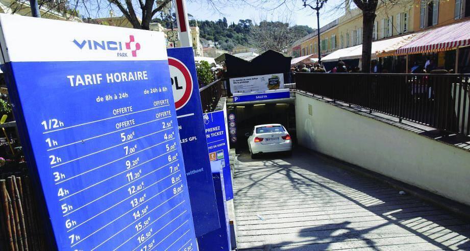 Les prix des parkings niçois à la loupe