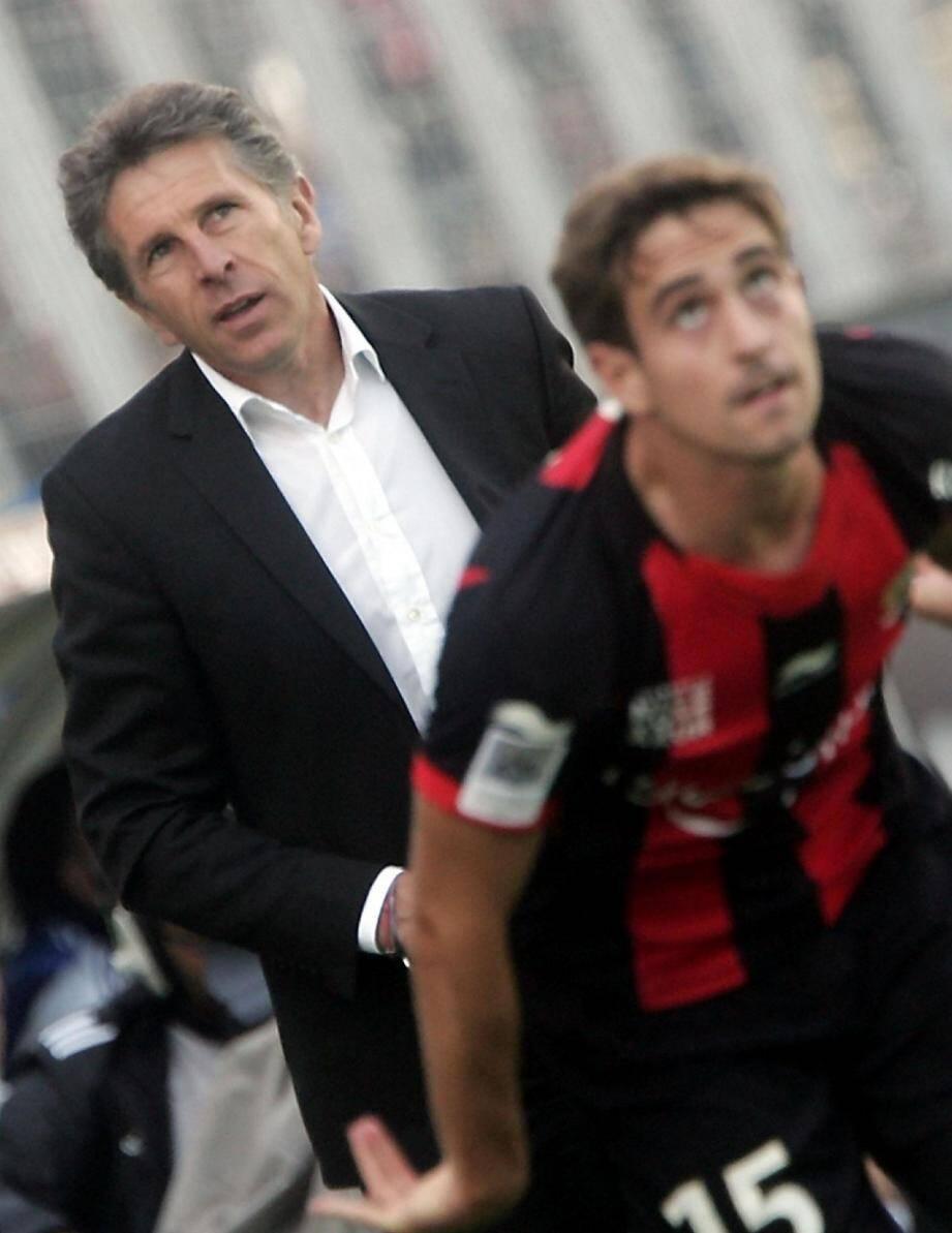 Claude Puel a tenu à rendre hommage à ses joueurs (ici, Grégoire Puel).