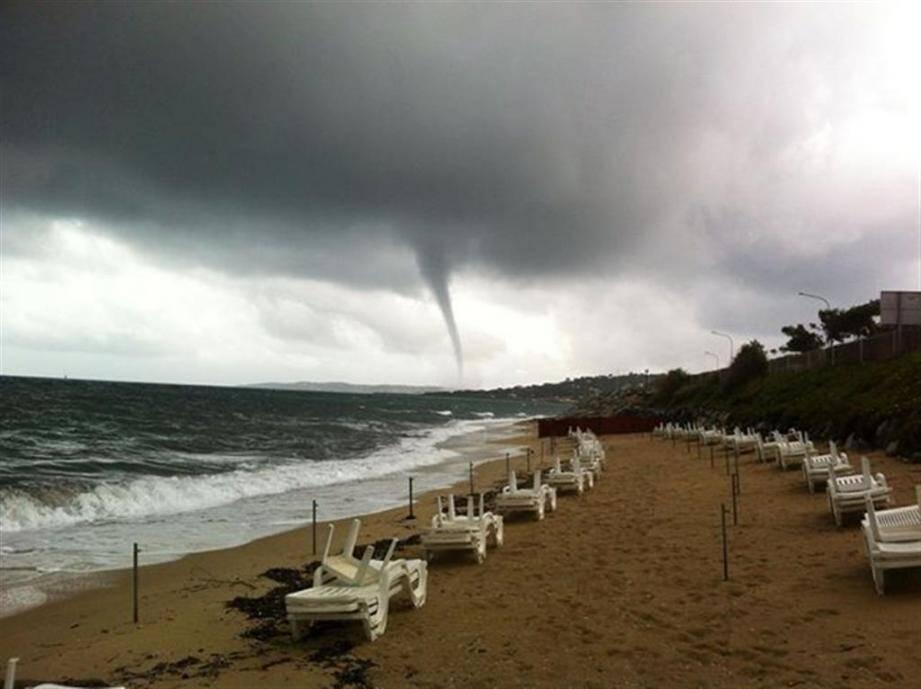 Trombe d'eau à Sainte-Maxime