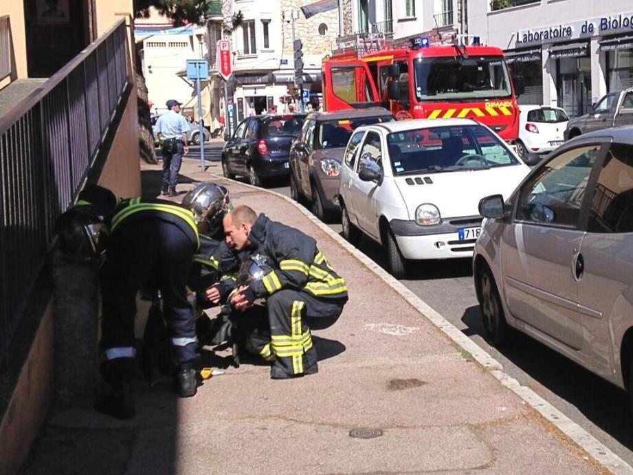 Intervention pompiers à Cagnes