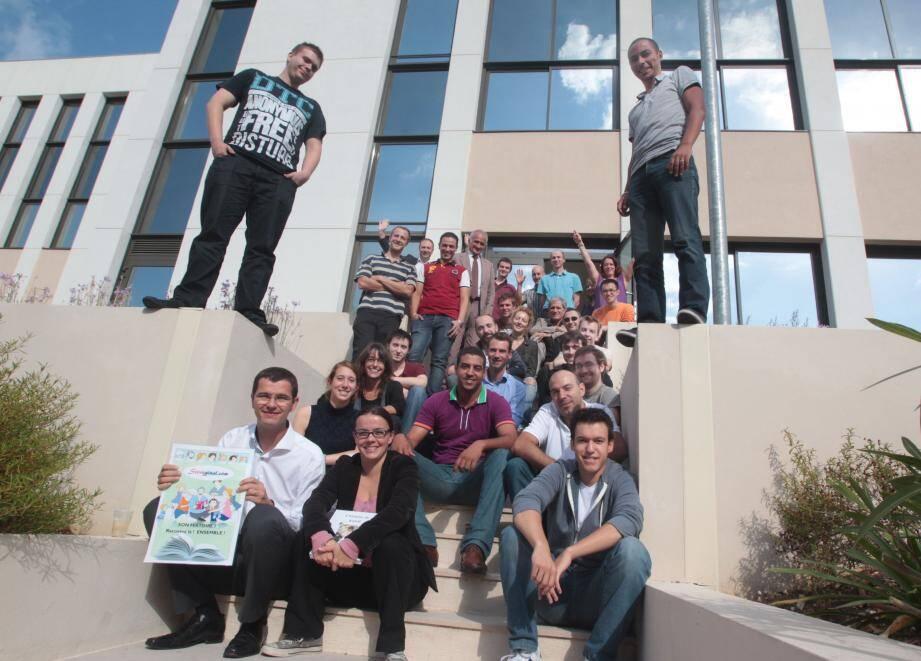 Les représentants de l'État ont visité le Business Pôle qui accueille des dizaines de créateurs d'entreprises.