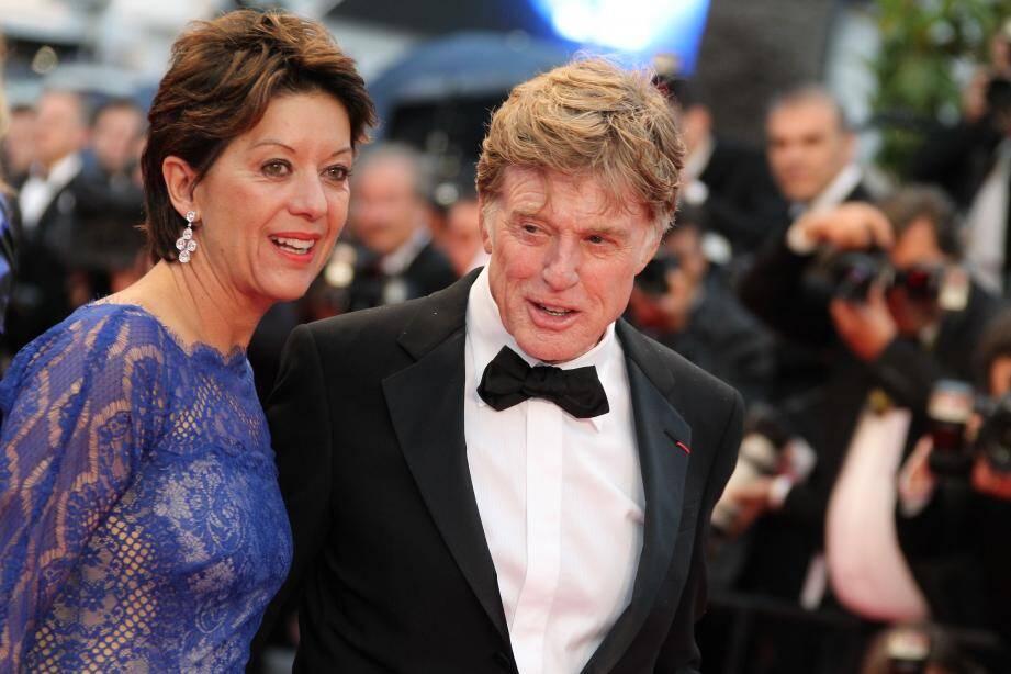 Robert Redford et son épouse
