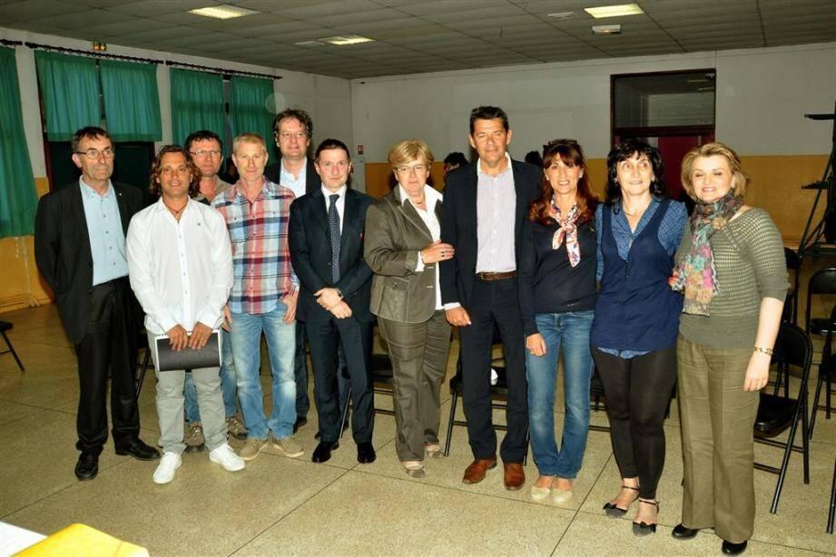 L'association des commerçants artisans du Muy a reçu Maxime Rinaldi et Roberto Bonati, porteurs du projet pôle touristique de la mode.