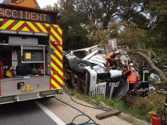 accident fréjus camion