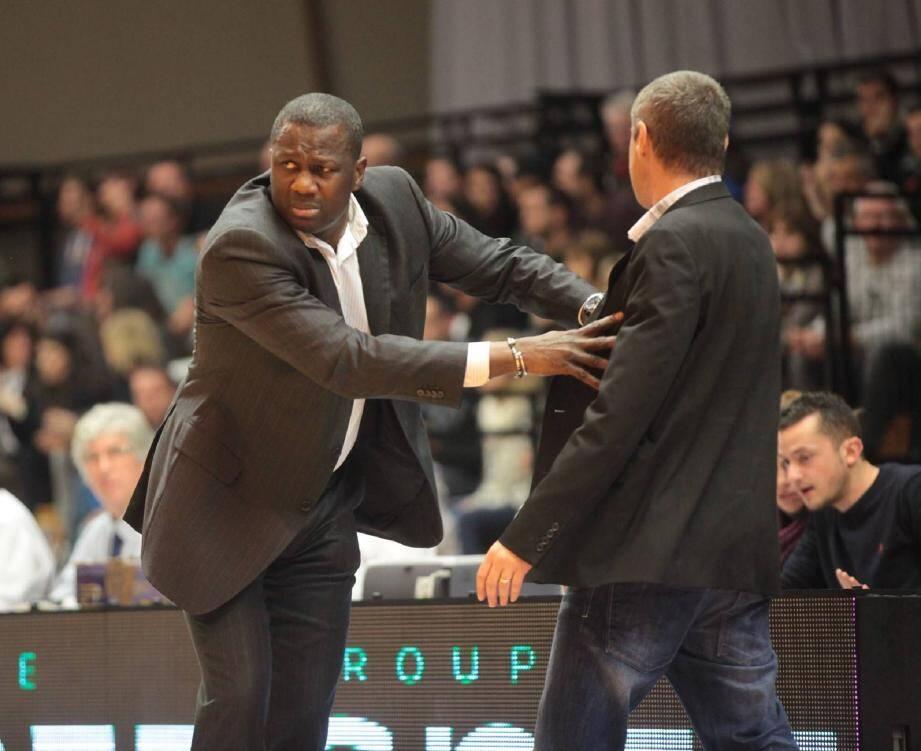 Jean-Aimé Toupane (à gauche) rejoint les Sharks d'Antibes, laissant son adjoint à Hyères-Toulon, Laurent Legname, devenir coach du HTV. (Ph. Laurent Martinat)
