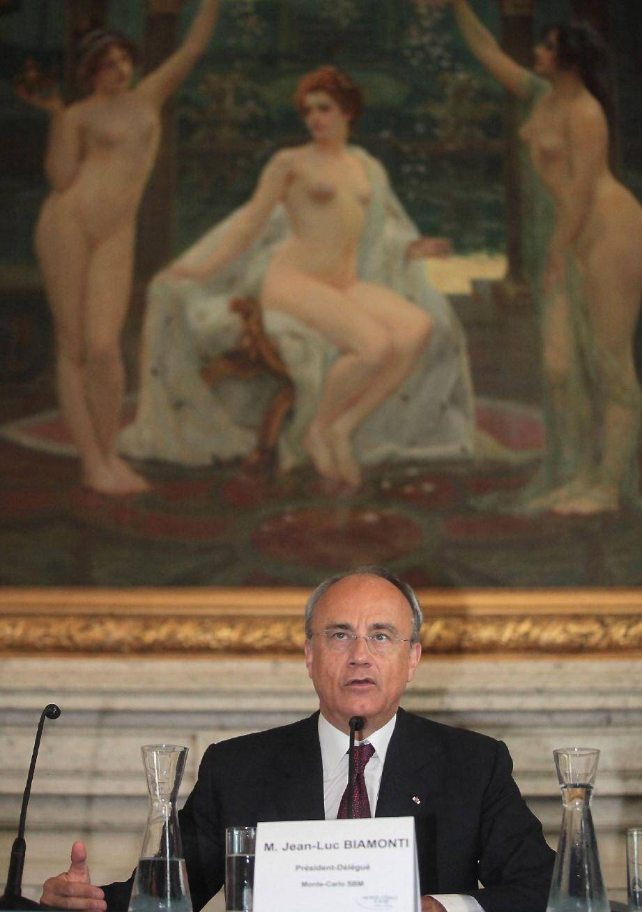 Jean-Luc Biamonti, président délégué a présenté le bilan 2011/2012 .