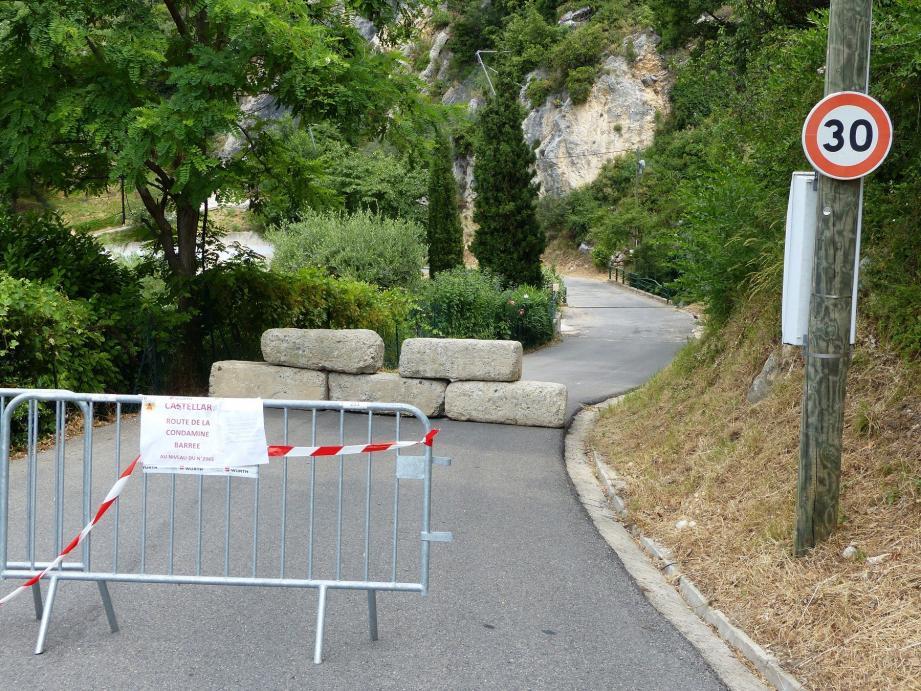 Castellar : la route de la Condamine fermée à la circulation