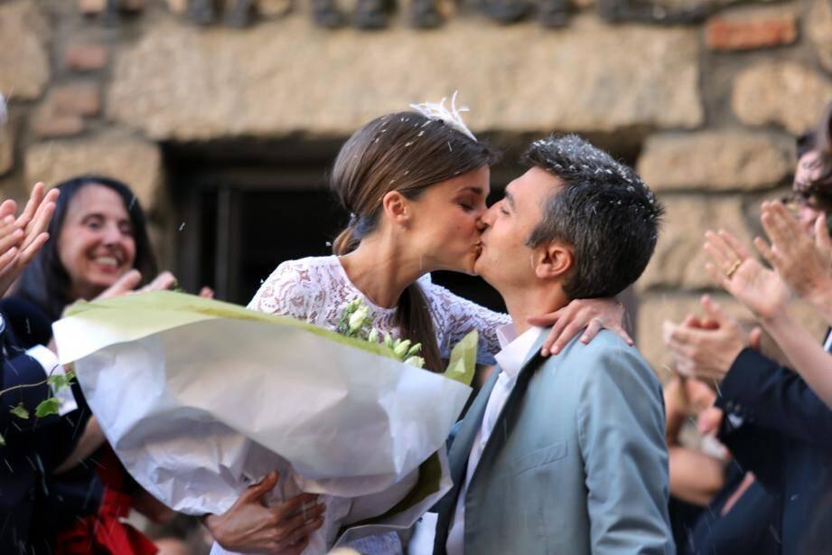 C'est fait ! La Niçoise Celine Bosquet et Thomas Langmann se sont mariés civilement vendredi à la mairie de Sartène, en Corse-du-Sud.