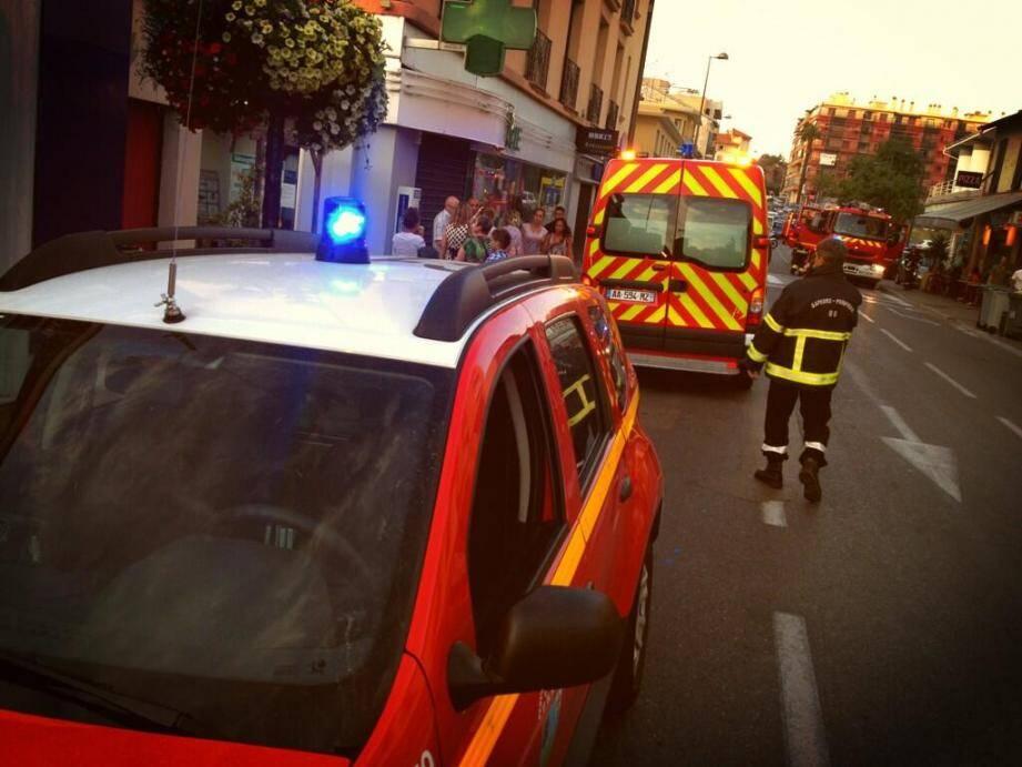 Les pompiers avaient dépêchés sur place d'importants moyens d'intervention.