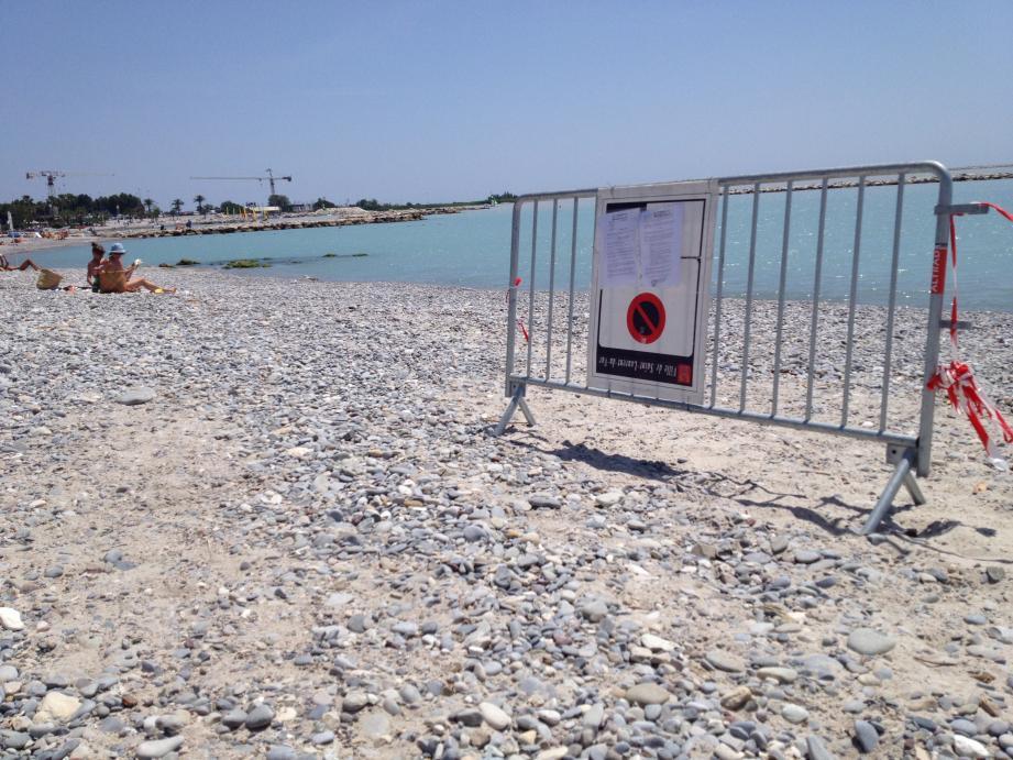 La baignade sera interdite à partir de mardi 18 juin à 7 heures