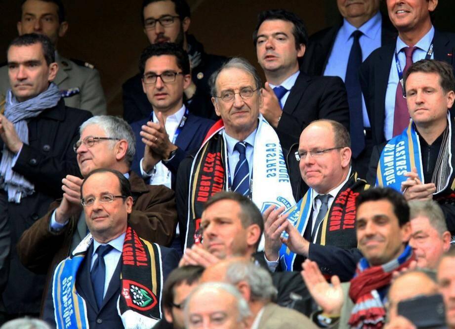 Le prince Albert était dans les gradins du stade de France, en compagnie de François Hollande, pour assister à la finale du Top 14 qui opposait les Toulonnais à Castres