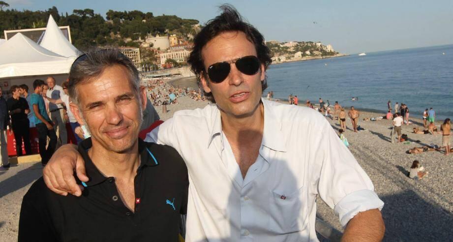 Paul Belmondo et Anthony Delon à Nice.