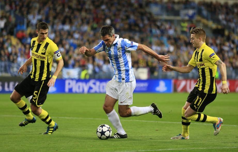 Jérémy Toulalan, sous le maillot de Malaga début avril, lors du quart de finale de Ligue des Champions contre Dortmund.
