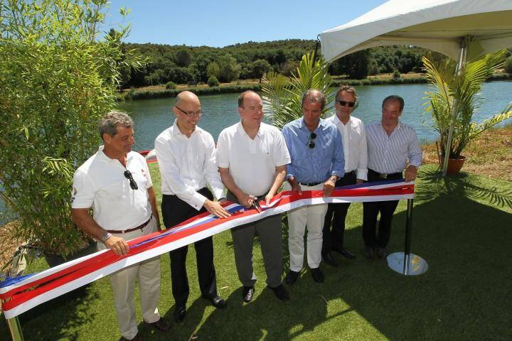 Albert Monaco inaugure ski nautique 130730