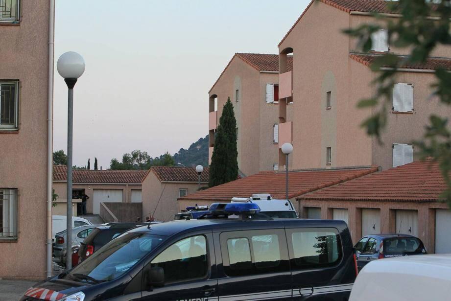 Samedi après-midi, une personne âgée à mobilité réduite avait été agressée à l'arme blanche dans son appartement de la résidence HLM Les Plantade, quartier de Sainte-Christine à Solliès-Pont .