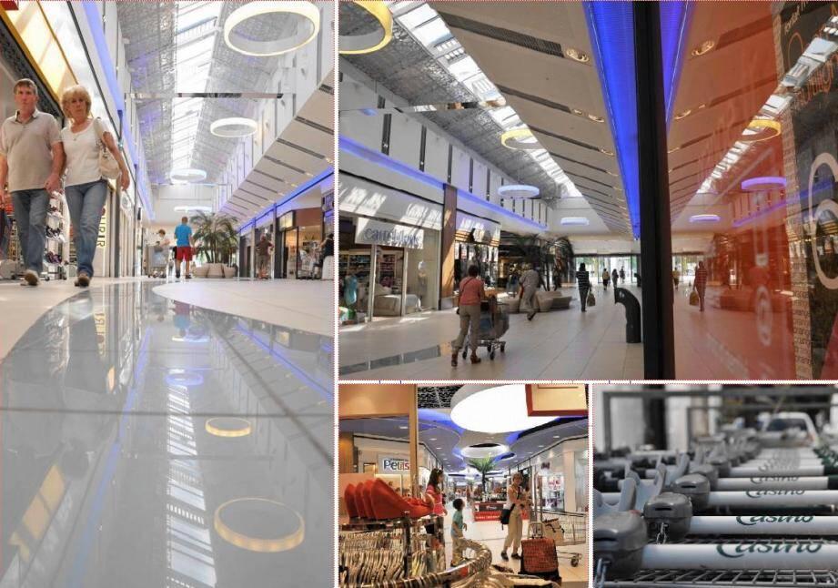 La galerie marchande s'est offert un lifting complet : sols, plafonds, façades et éclairage ont été revus.