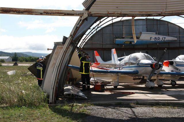 L'aérodrome de Vinon victime d'une mini-tornade