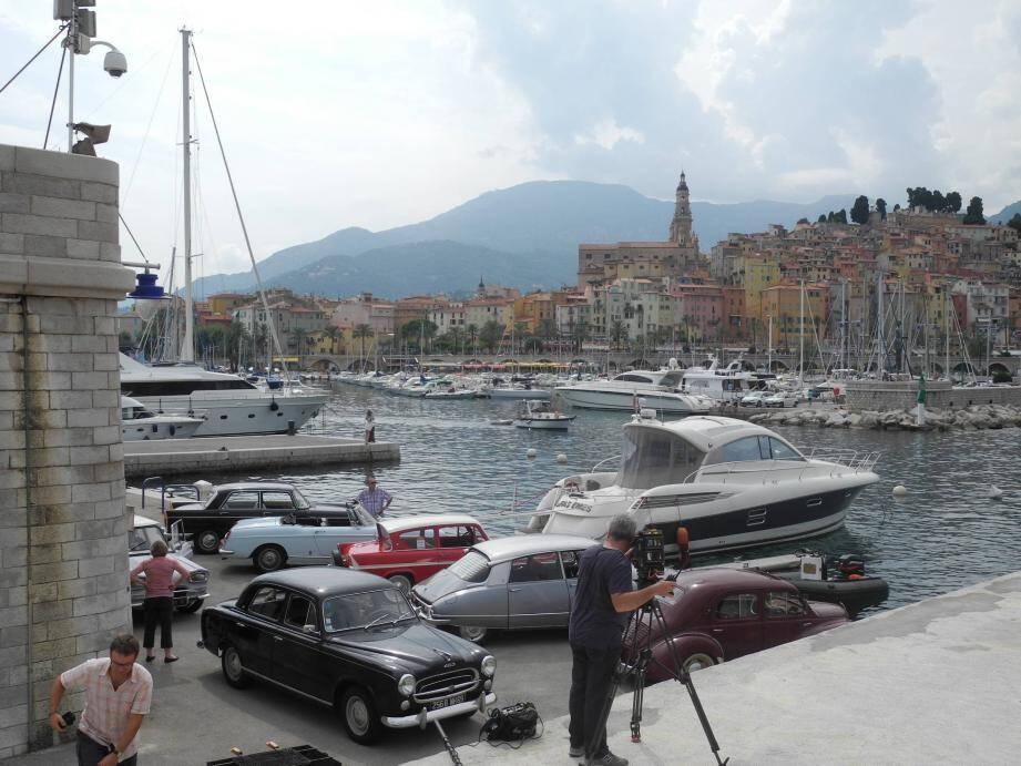 La capitainerie du vieux port a été le cadre de tournage de la dernière étape de la RN7, pour l'émission de France 3.